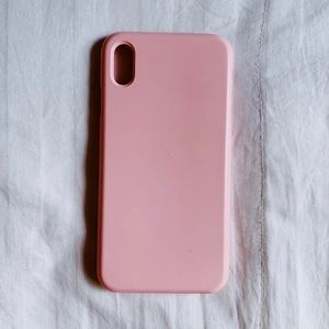 iPhone Xs Max Solid Pink Silicone Case